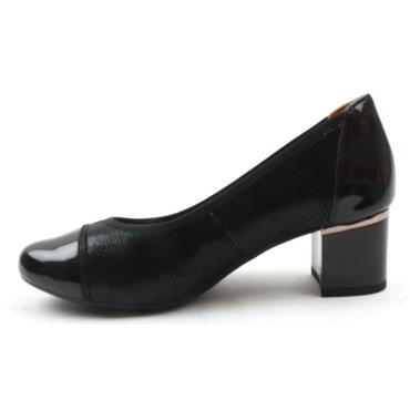 CAPRICE 22404 BLOCK HEEL COURT - Black