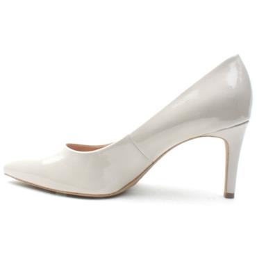SOLIVER  22420 HIGH HEEL SHOE - NUDE PATENT