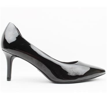 TAMARIS 22421 COURT SHOE - BLACK PATENT