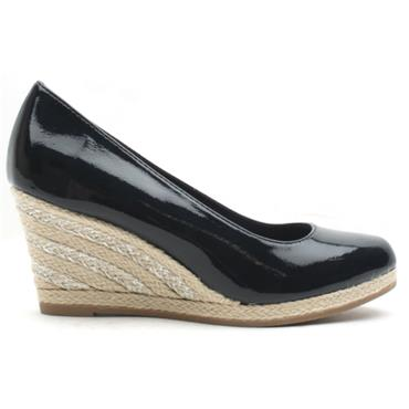 MARCO TOZZI 22440 WEDGE SHOE - NAVY PATENT