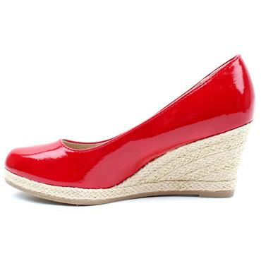 MARCO TOZZI 22440 WEDGE SHOE - RED PATENT