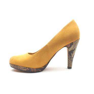 MARCO TOZZI 22441 COURT SHOE - YELLOW