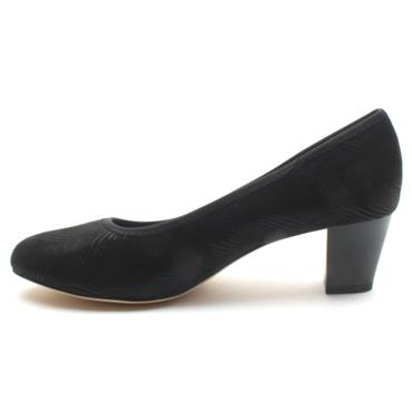 JANA 22473 COURT SHOE - BLACK PATENT