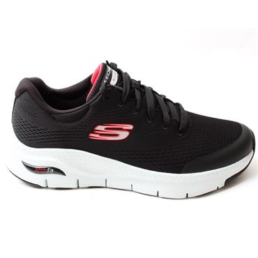 SKECHERS 232040 ARCH FIT RUNNER - BLACK/RED