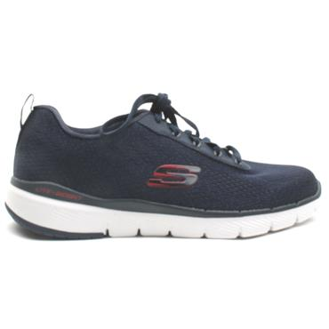 SKECHERS 232059 FLEX ADVANTAGE RUNNER - NAVY/RED