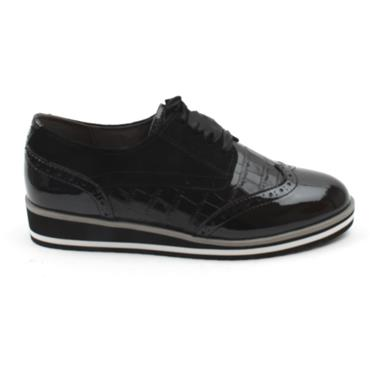 CAPRICE 23300 LACED SHOE - BLACK MULTI