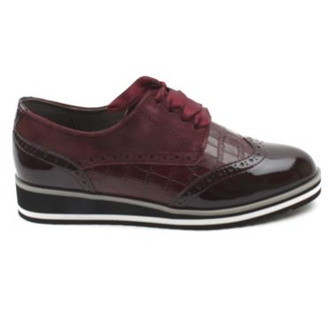 CAPRICE 23300 LACED SHOE - BURGUNDY