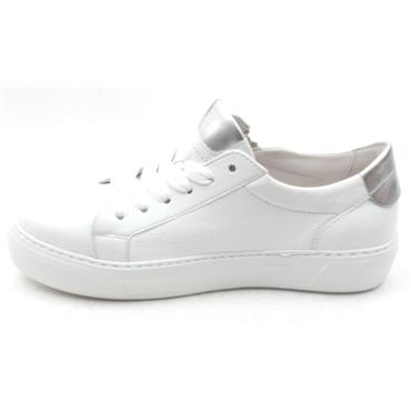 GABOR 23314 LACED SHOE - WHITE SILVER