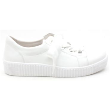 GABOR 23330 CHUNKY LACED SHOE - WHITE