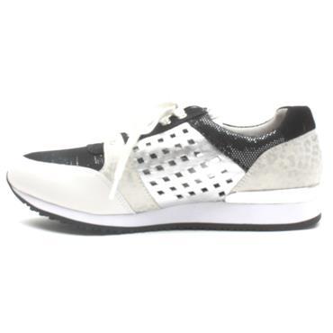 CAPRICE 23503 LACED SHOE - BLACK/WHITE