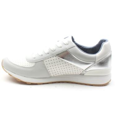 SOLIVER 23614 LACED SHOE - SILVER