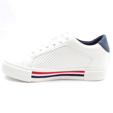 SOLIVER 23619 LACED SHOE - WHITE