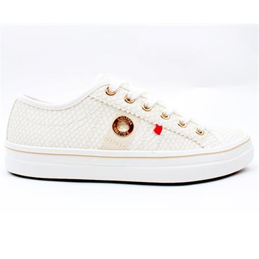 SOLIVER 23640 LACED SHOE - CHAMPAGNE