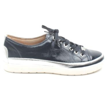 CAPRICE 23654 LACED SHOE - NAVY PATENT