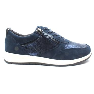 JANA 23662 LACED SHOE - NAVY