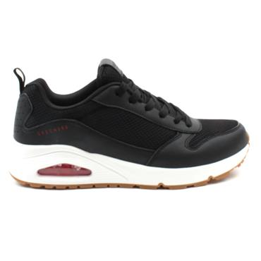 SKECHERS 237016 LACED RUNNER - BLACK/RED