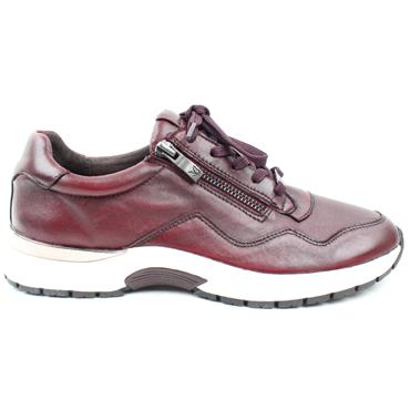 CAPRICE 23701 LACED SHOE - BURGUNDY