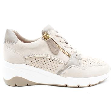 JANA 23702 LACED SHOE - BEIGE