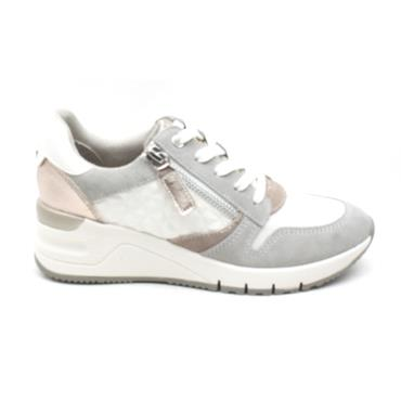 TAMARIS 23702 LACED SHOE - WHITE