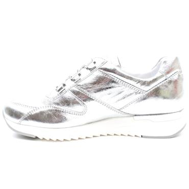 CAPRICE 23704 LACED SHOE - SILVER