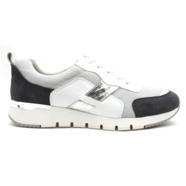 CAPRICE 23707 LACED TRAINER - NAVY/WHITE
