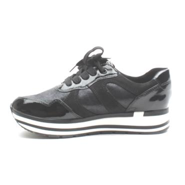 MARCO TOZZI 23708 LACED SHOE - BLACK/WHITE