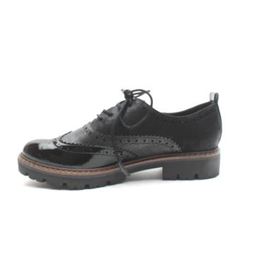 MARCO TOZZI LACED SHOE23718 - Black