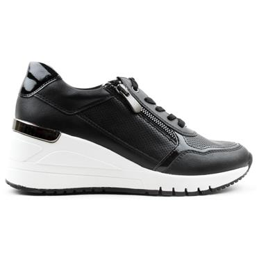 MARCO TOZZI 23743 WEDGE TRAINER - BLACK MULTI
