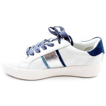 TAMARIS 23750 LACED SHOE - WHITE BLUE