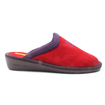 NORDIKA LADIES 238 SUEDE MULE - RED