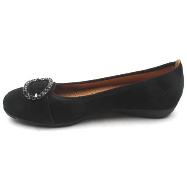 GABOR LADIES SHOE 24152 - BLACK SUEDE