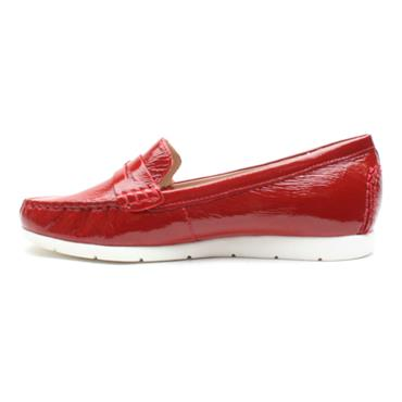 CAPRICE 24251 FLAT SHOE - RED PATENT