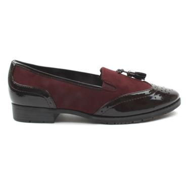 JANA 24260 LOAFER SHOE - WINE