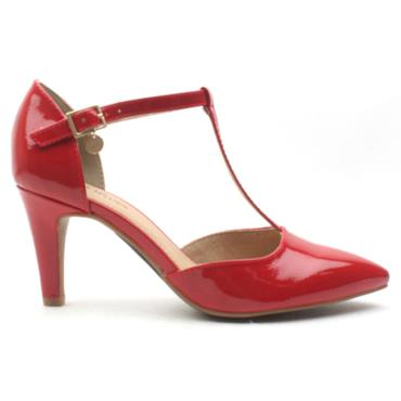 SOLIVER 24405 T BAR SHOE - RED PATENT