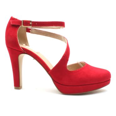 SOLIVER 24420 STRAP SHOE - RED SUEDE