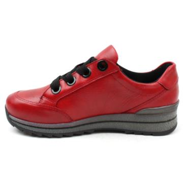 "ARA 24528 ""H"" WIDE FITTING LACED SHOE - RED"