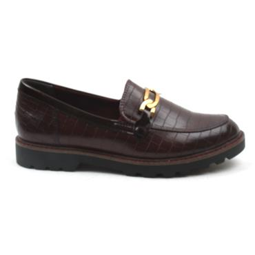 TAMARIS 24601 LOAFER SHOE - BURGUNDY PATENT