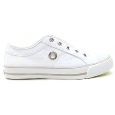 SOLIVER 24635 CANVAS SHOE - WHITE
