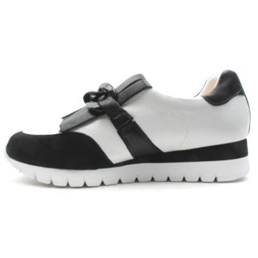 CAPRICE 24700 LACED SHOE - BLACK/WHITE