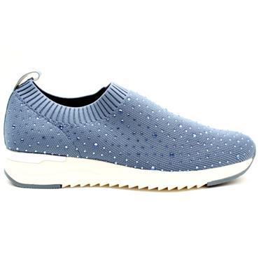 CAPRICE 24700 SLIP ON SHOE - BLUE