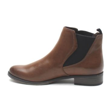 MARCO TOZZI 25040 FLAT ANKLE BOOT - Tan