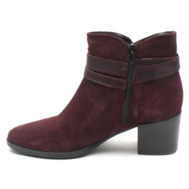 TAMARIS 25059 ANKLE BOOT - BURGUNDY