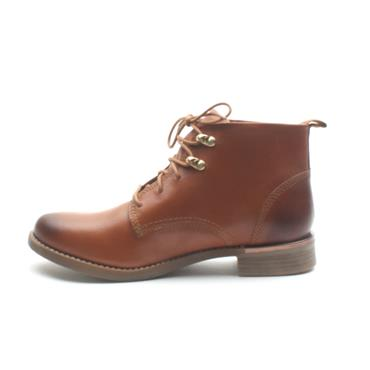 SOLIVER 25100 LACED ANKLE BOOT - TAN