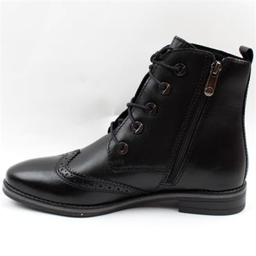 MARCO TOZZI 25106 LACED BOOT - Black