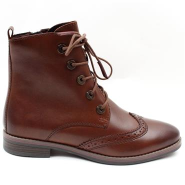 MARCO TOZZI 25106 LACED BOOT - CHESTNUT