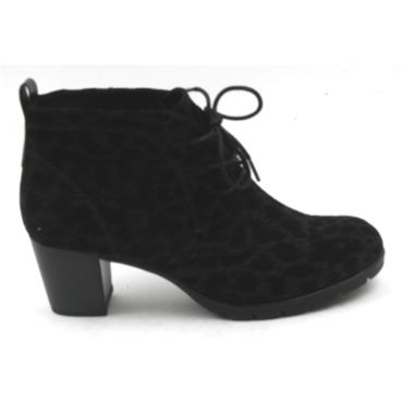 MARCO TOZZI 25107 LACED BOOT - BLACK PATTERN
