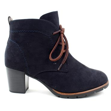 MARCO TOZZI 25107 LACED BOOT - DARK NAVY