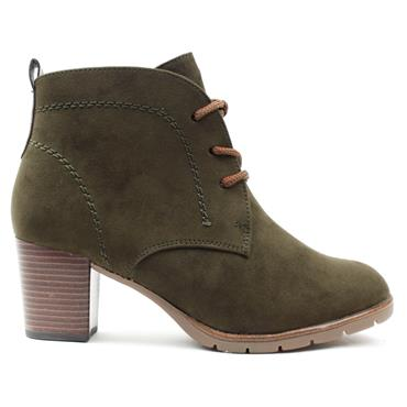 MARCO TOZZI 25107 LACED BOOT - OLIVE