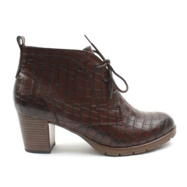 MARCO TOZZI 25109 LACED BOOT - CHESTNUT
