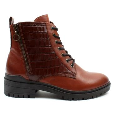CAPRICE 25205 LACED BOOT - TAN